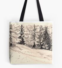 les arcs 1800 snow scene Tote Bag