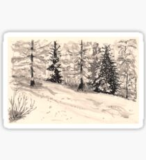 les arcs 1800 snow scene Sticker