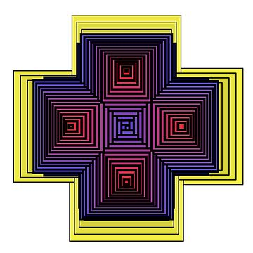 Cross of illusion by iterograph