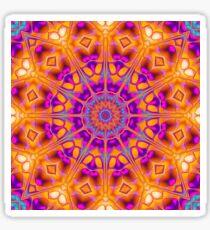 V1 Trippy Hippy Geometric Mandala Sticker