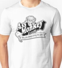 Ass Monkey Garage Camiseta unisex