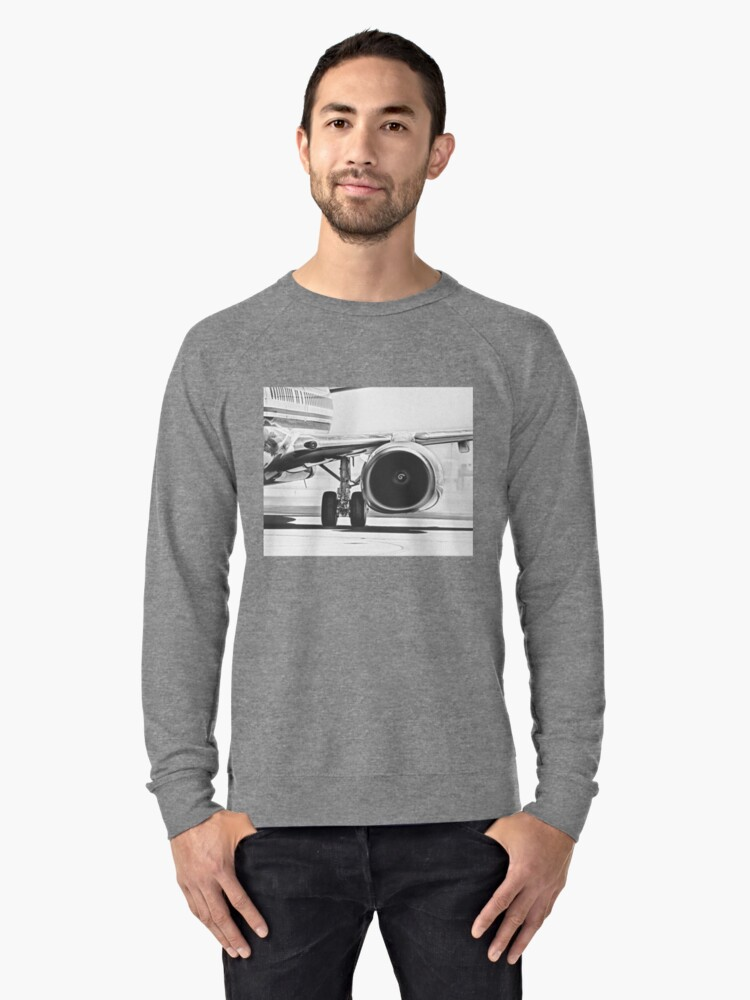 Jet Turbofan Engine Lightweight Sweatshirt Front
