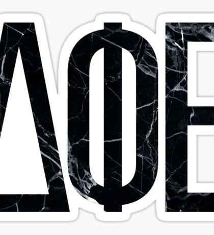Black Marble Greek Letters Sticker