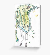 Bird Person Scan Greeting Card