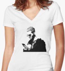 Bill Kaulitz  Women's Fitted V-Neck T-Shirt