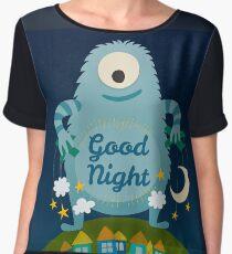 Good Night cartoon monster. Chiffon Top
