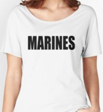 Basic MARINES Women's Relaxed Fit T-Shirt
