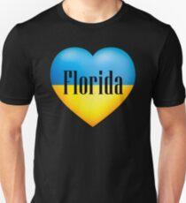 Ukrainian Heart In Florida T-Shirt