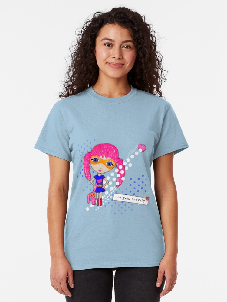 Alternate view of Bravely, She Took On The World Classic T-Shirt