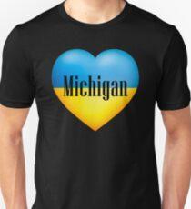 Ukrainian Heart In Michigan T-Shirt