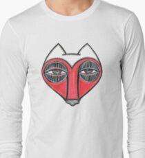 fox face heart Long Sleeve T-Shirt