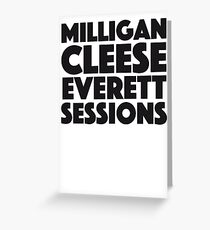 David Brent - Milligan, Cleese, Everett, Sessions Greeting Card