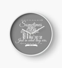 The Book Thief Quote Clock