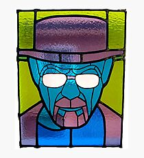 Heisenberg Stained Glass Photographic Print