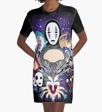 Ghibli Dreams Graphic T-Shirt Dress