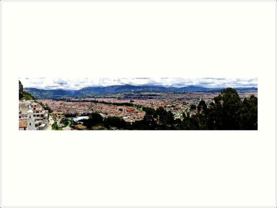 Turi and Cuenca Ecuador Panorama by Al Bourassa