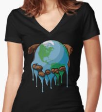 I'm Up Earth Women's Fitted V-Neck T-Shirt