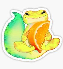 Orange Sorbet Gecko Sticker