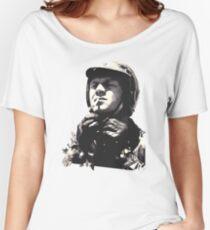 Steve McQueen Helmet Motorbike race Women's Relaxed Fit T-Shirt