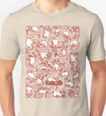 Red Panda all over pattern spread Unisex T-Shirt