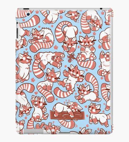 Red Panda all over pattern spread iPad Case/Skin