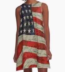 amerikanische Flagge A-Linien Kleid