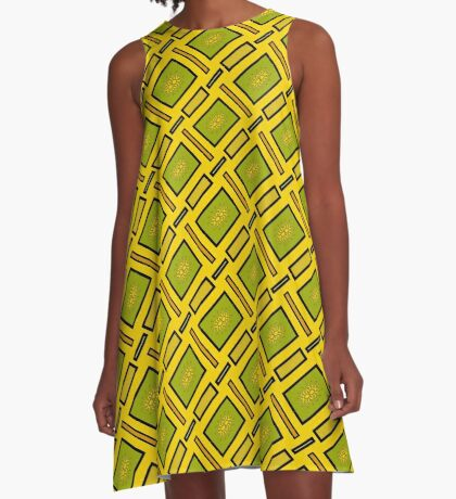 Gold and Green by Julie Everhart A-Line Dress