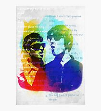 Noel and Liam Gallagher (Oasis) Photographic Print