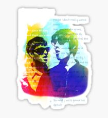 Noel and Liam Gallagher (Oasis) Sticker
