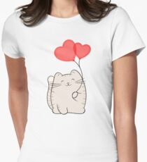 Eli, the love cat Women's Fitted T-Shirt