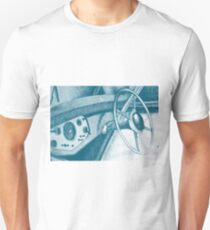Vintage car dashboard drawing. Illustration Unisex T-Shirt