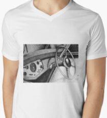 Vintage car dashboard drawing. Illustration Men's V-Neck T-Shirt