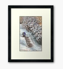 On the stairs Framed Print