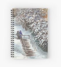 On the stairs Spiral Notebook
