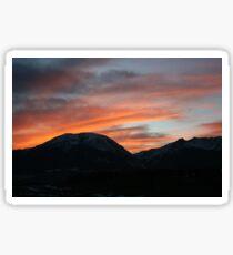Sunset over Breckenridge Sticker