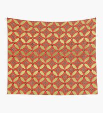 Rot Gold Muster Wall Tapestry
