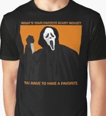 Scream / Ghostface (w/ quotes) Graphic T-Shirt