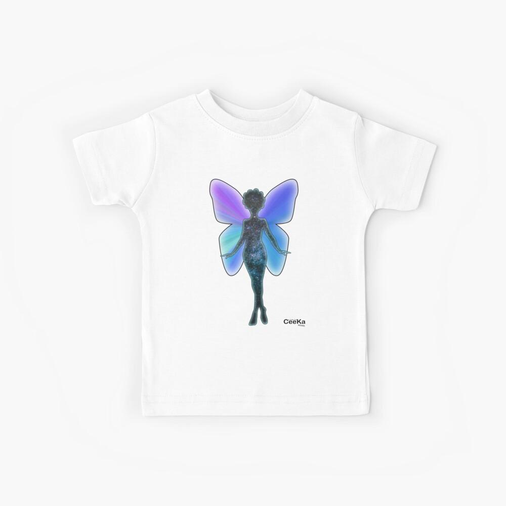 Sternstaub und Schmetterlinge Kinder T-Shirt