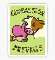 COMPASSION PREVAILS  Sticker