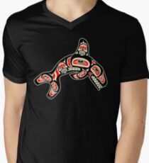 Alaskan Orca Men's V-Neck T-Shirt