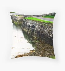 Milk Harbour at low tide, Sligo, Donegal, Ireland Throw Pillow