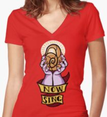 Now, Sing! Women's Fitted V-Neck T-Shirt