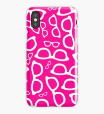 Pink/Magenta Smart Glasses Pattern iPhone Case/Skin