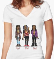Migos Women's Fitted V-Neck T-Shirt