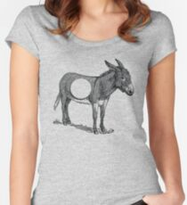 Asshole (Donkey with a hole) Women's Fitted Scoop T-Shirt