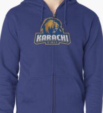 Karachi Kings cricket logo Zipped Hoodie