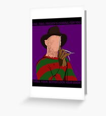 Nightmare on Elm Street / Freddy Kreuger (w/ quotes) Greeting Card