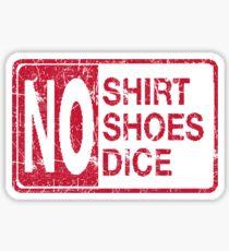 No Dice Sticker