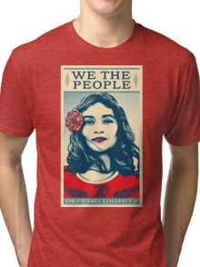We The People Defend Dignity Tri-blend T-Shirt