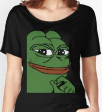 Smug Pepe (Highest Resolution) Women's Relaxed Fit T-Shirt